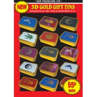 2oz Gold Gift Tins 3D Set 20 Designs