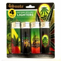 4Smoke Electronic Refillable Lighters - Leaf 2