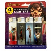 4Smoke Electronic Refillable Lighters - Cats 1