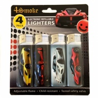 4Smoke Electronic Refillable Lighters - Cars
