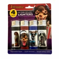 4Smoke Electronic Refillable Lighters - Animals