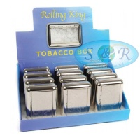 Rolling King Tobacco Box Scroll Design