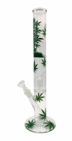 18 inch Leaf Percolator Straight Glass Waterpipe Bong