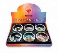 Dogs Design Glass Ashtrays