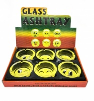 Emoji Design Glass Ashtrays