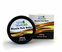 LV Well CBD Muscle Rub Balm 500mg - 30ml