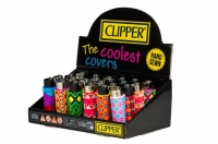 Clipper Covers Geometric Design Lighters - 24's