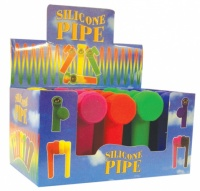 8cm Coloured Silicone Hand Pipes