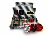 3-Pt Metal Handled Grinder Various Colours Box Of 6