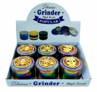 60cm 4 Part Gold Diamond Metal Grinders - 6s