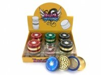 4-Part Amsterdam Gold Trim Grinder Various Colours Box Of 12