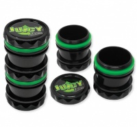 Juicy Jay's Jars Black & Green Stash Pot