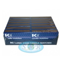 K Two Long Stem Candle Matches<br>12 Pack