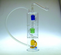 20cm Flexible Hose Mouthpiece Boxed Glass Waterpipe