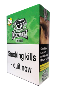 Blunt Wrap Double Platinum Emerald