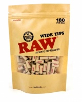 RAW Pre-Rolled WIDE Tips - Bag of 180