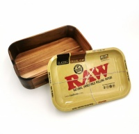 RAW Wooden Cache Box with Tray