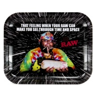 RAW OOPS Medium Metal Rolling Tray