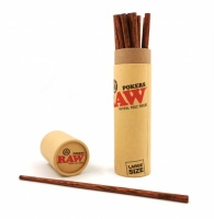 RAW Natural Wood Pokers - Large Size (224 mm) - 20 per pack