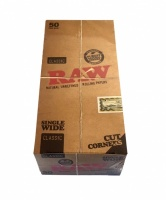 RAW Classic Single Wide Cut Corners Rolling Papers