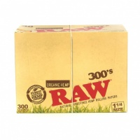 RAW Organic 300's 1¼ Size Creaseless Rolling Papers