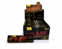 RAW BLACK Classic Connoisseur King Size Slim Rolling Papers & Tips