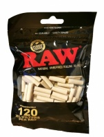 RAW Black XL Filter Tips - 6mm x 22mm - 120 per Bag