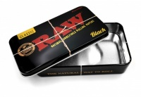 RAW BLACK Rolling Papers Printed Tobacco Tin