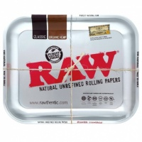 RAW METALLIC Medium Metal Rolling Tray
