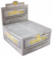 Rolling King Premium SILVER Kingsize Slim Rolling Papers