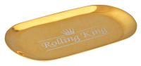 Rolling King GOLD Small Stainless Steel Rolling Tray