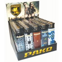 Pako Puzzle Electronic Refillable Lighters 50 per Pack