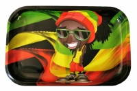 Small Rasta Man Metal rolling tray - 290 x 190mm