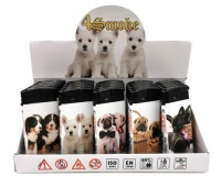 4Smoke Electronic Refillable Slim Lighters - DOGS
