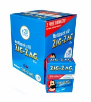 Zig-Zag Blue Regular Multipack Rolling Papers - 20 x 10 pack