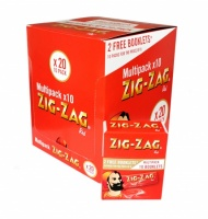 Zig-Zag Red Regular Multipack Rolling Papers - 20 x 10 pack