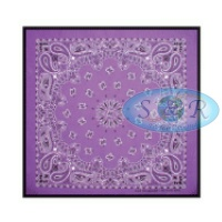 Purple Paisley Design Bandanas<br>Large Only