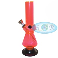 20cm Single Bubble Striped No2 Acrylic Waterpipe Bong
