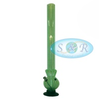 54cm Striped Single Bubble Acrylic Waterpipe Bong