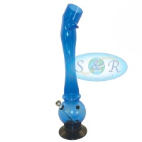 40cm Single Bubble Bent Top Acrylic Waterpipe Bong