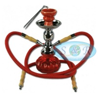 28cm Double Hose Pumpkin Shisha Hookah Various Colours