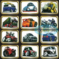 1oz & 2oz Gold Gift Tins Cartoon Vehicles