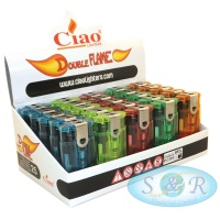 Ciao Windproof Double Jet Flame Electronic Lighters