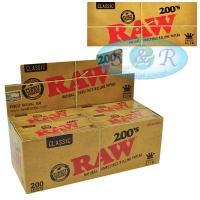 RAW Classic 200s King Size Slim Rolling Papers
