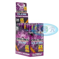 Cyclone Clear Purple Flavoured Pre Rolled Cones