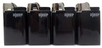 Djeep Black Design Disposable Lighters