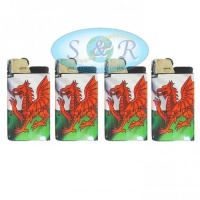 Djeep Welsh Flag Design Disposable Lighters