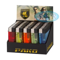 Pako Solid Colours Electronic Disposable Lighters