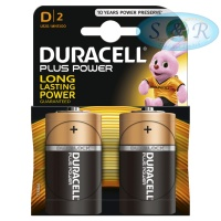 Duracell Plus Power Batteries Size D