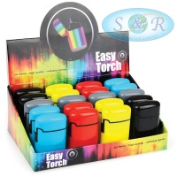 V-Fire Easy Torch 8 Solid Gloss Colours Jet Flame Lighters